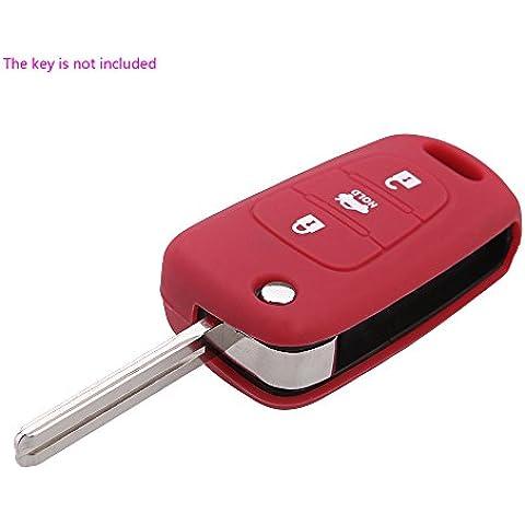 Artans £ ¨ TM) in silicone Uncut Lama per auto cover chiave telecomando Flip Fob 3Pulsante per Kia K2K5Pro Ceed auto cover chiave