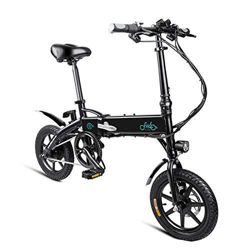 FIIDO D1 Ebike, Bicicletta elettrica pieghevole per adulto, Bicicletta elettrica pieghevole con ruote da bici da 250W 7.8Ah / 10.4Ah (10.4Ah nero)