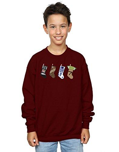 Star Wars Jungen Christmas Stockings Sweatshirt 5-6 Years Burgund (Burgund Christmas Stockings)