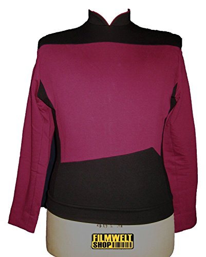 Star Trek Next Generation Uniform - Oberteil super deluxe Baumwolle (XXX-Large, - Star Trek Next Generation Kostüm Rot