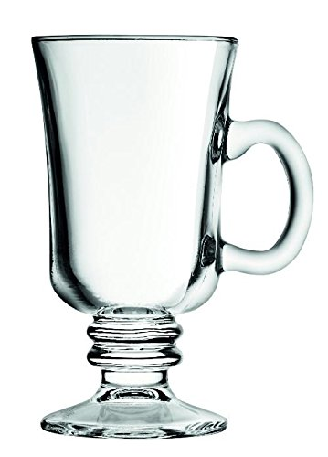 12 x Irish Coffee Glas, Kaffeeglas mit Henkel, Glas, 24 cl, Ø 7.6 cm, Höhe: 14.6 cm Irish Coffee Set