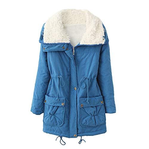 TianWlio Pelz Mäntel Frauen Weihnachten Frauen Mantel Langarm Strickjacke Jacke Outwear Herbst Winter Warmer Langer Mantel Pelz Umlegekragen Jacke Schlanke Winter Parka Outwear Mäntel