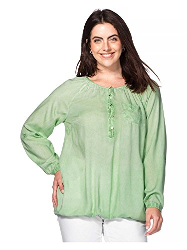 sheego Casual Femmes Tunique T-shirt Grandes tailles vert clair