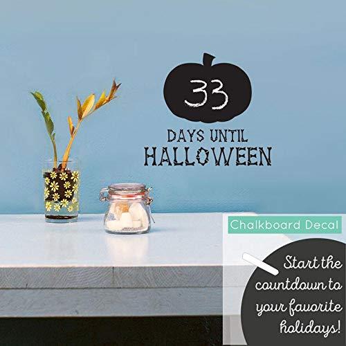 (wandaufkleber baby sterne Halloween-Countdown-Kürbis der Tafel)