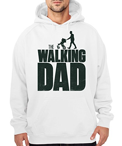 ::: THE WALKING DAD ::: Boys Kapuzenpullover Weiß