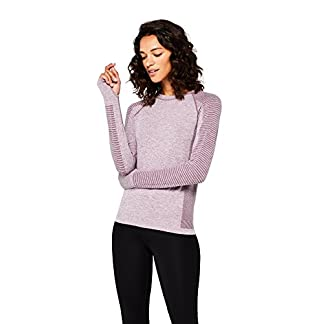Amazon Brand - AURIQUE Women's Seamless Long Sleeve Sports Top 3