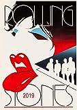 2019 Kalender [12 Pages 20x30cm] Rolling Stones Vintage Rock Music Poster