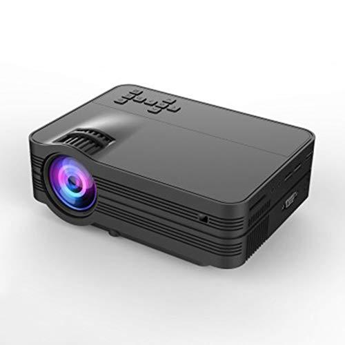 OWEM Beamer 1080P Full HD und 176''-Display Unterstützt, Tragbarer Videoprojektorn Kompatibel mit HDMI USB PC LED TV Handheld Movie Game, Heimkino-Projektor,Black,WithAndroid -