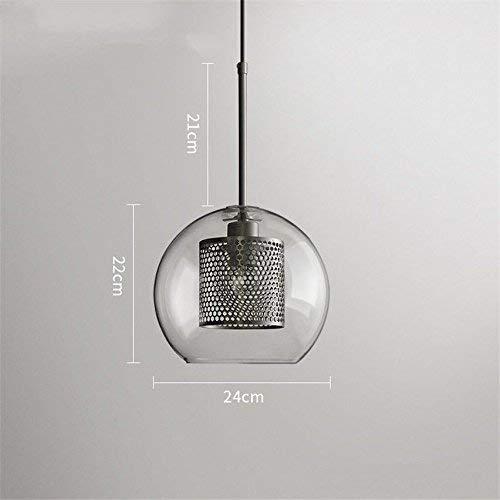 Xiao Fan ▶, Licht Anhänger Aufenthalt Restaurant Bar Schlafzimmer Studio Custom Dekorative Eisen Pendelleuchte Glas Beleuchtung, D ◀