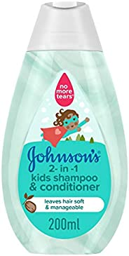 JOHNSON'S 2-in-1 Kids Bath, Shampoo & Conditioner, 2