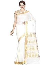 The Chennai Silks - Kerala Kasavu Cotton Saree - Off-White - (CCMYSC5265)