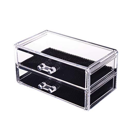 frcolor 2Schichten Schmuck und Kosmetik Schubladen Make-up-Box Kunststoff Eitelkeit Arbeitsplatte...