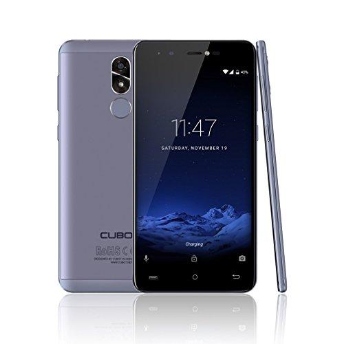 CUBOT R9 5,0 Zoll Smartphone Android 7.0 Dual SIM 3G Handy Ohne Vertrag MT6580 1.3GHz Quad Core 2GB RAM 16GB ROM 5MP+13MP Kameras Ultra dünnes, Abnehmbar 2600mAh, Fingerabdruck (Blau)