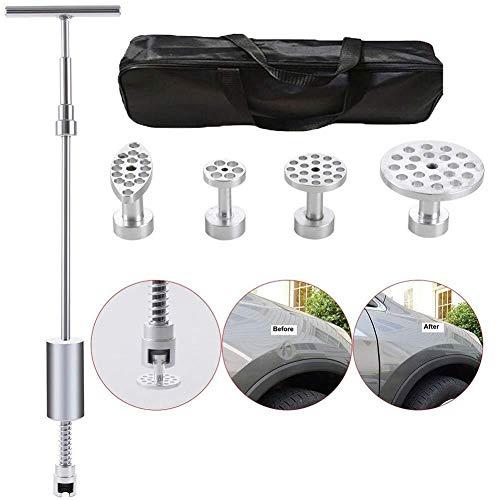Einfache und schnelle Wartung Body Dent Repair Tool 5 Teile/satz, Puller T-bar 2 In 1 Gleithammer Mit Werkzeugtasche, Aluminiumlegierung Registerkarte for Car Dent Einstiegsleisten Und Hagelschäden