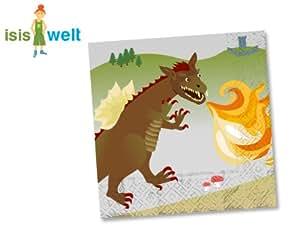 20 serviettes en papier - Dragons et Chevalier