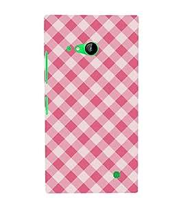 Fiobs Designer Back Case Cover for Nokia Lumia 730 Dual SIM :: Nokia Lumia 730 Dual SIM RM-1040 (Lines Straight Colorful White Cloth Apron)