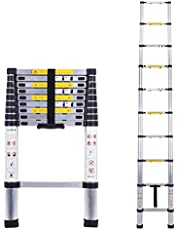 Corvids 2.9m (9.5 ft) Portable & Compact Aluminium Telescopic Ladder, EN131 Certified, 10-Steps Foldable Multipurpose Step Ladder for Home & Outdoor use