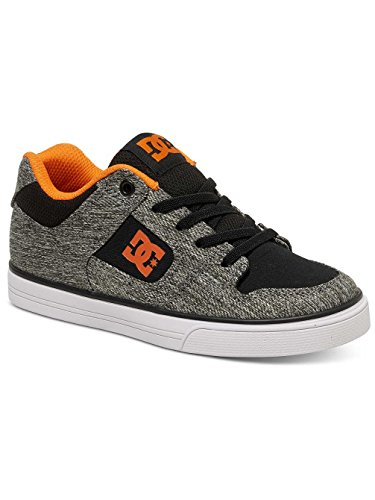 Dc Shoes Pure Elastic Tx Se - Zapatillas Sin Cordones Para Chicos (Niños/Kids) Black Grey