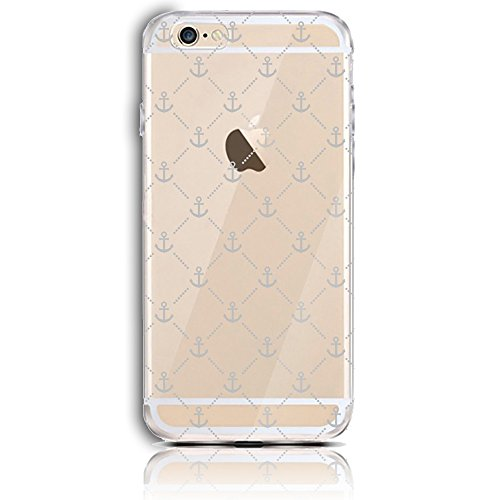 iPhone 6S Silikon Hülle,iPhone 6 Hülle,Sunroyal TPU Case Schutzhülle Silikon Crystal Kirstall Clear Case Durchsichtig,Kreative Schwarz Backgammon Malerei Muster Transparent Weichem Silikon Schutzhülle Pattern 11