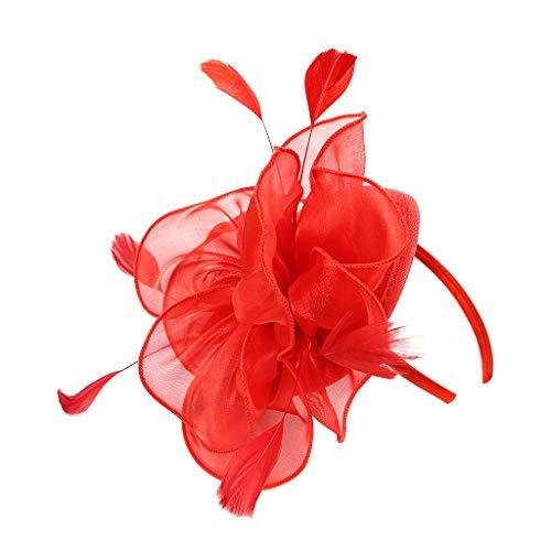 Flapper Stirnbänder 1920er Jahre Pfau Stirnband Kopfbedeckung Flapper Stirnband Kopfschmuck Floral Flower Garland Stirnband Vintage-Wunderschön Stirnband für Braut Feder Stirnband ()