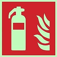 Protección contra incendios caracteres Símbolo Cartel extintor ISO placa de plástico fosforógeno &. Autoadhesivo, 150x 150mm