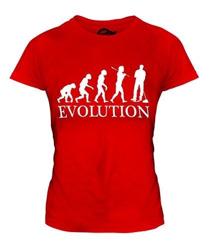 Candymix Hausmeister Parkwächter Evolution des Menschen Damen T Shirt, Größe Large, Farbe ()