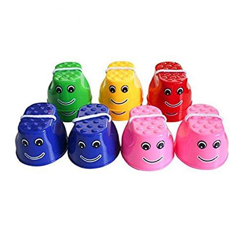 iTemer 1 Paar Kinder Stelzen Spielzeug Topfstelzen Stelzen Kinderstelzen Kinderturnen Turnen Laufstelzen,Farbe zufällige