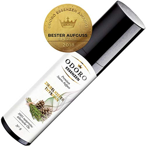 Saunaaufguss Duft Zirbelkiefer Thymian Fichte - 100% ätherische Öle - Premium Aufguss Konzentrat (100ml) - Natürliches Aufgussmittel, naturreine Saunaaufgüsse -
