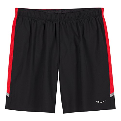 Saucony Run Lux Short pour Black/Strong Red