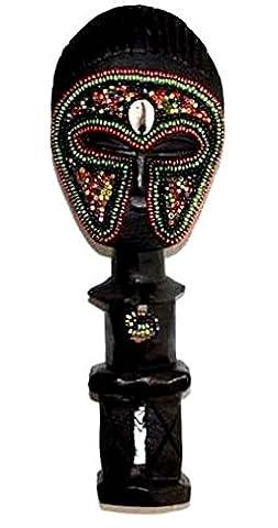 AFRIQUE ART DECORATION -Poupée ashanti avec perles 3105-AX-107