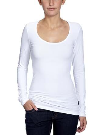 ONLY Damen Langarmshirt, 15060054 Live Love O-Neck, Gr. 34 (XS), Weiß (WHITE)