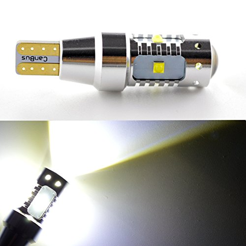 Ruiandsion Lot de 2 ampoules LED Canbus T15 6SMD CREE 12 à 24 V 6000 K Blanc T15 921 912 LED de recul