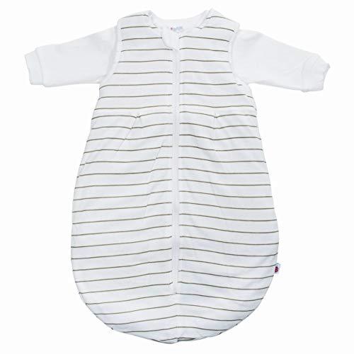 COCONETTE Baby-Schlafsack Exclusiv 2-teilig | wattierter Außensack & Innensack Langarm | für Sommer & Winter | Kinderschlafsack ÖKO-Tex zertifiziert, Größe:62/68