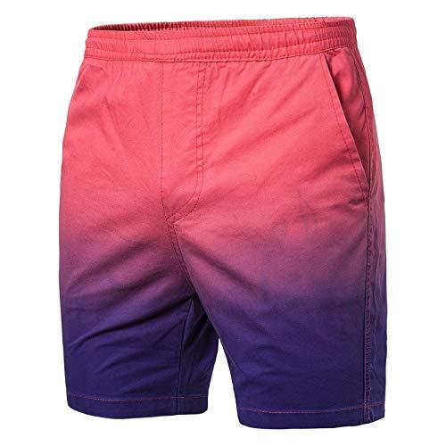 GreatestPAK Herren Badehose Strandshorts Tasche Fitness Sport Schnelltrocknend Gefälle Kurze Hosen,Pink,EU:L(Tag:XXL) - Graue Wolle Hosen