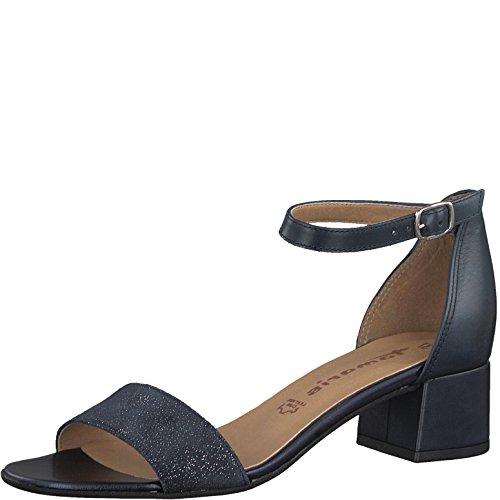 Tamaris 1-1-28394-20 Damen Sandale, Sandalette, Sommerschuhe für die modebewusste Frau blau (Blue MET/Blue), EU 40