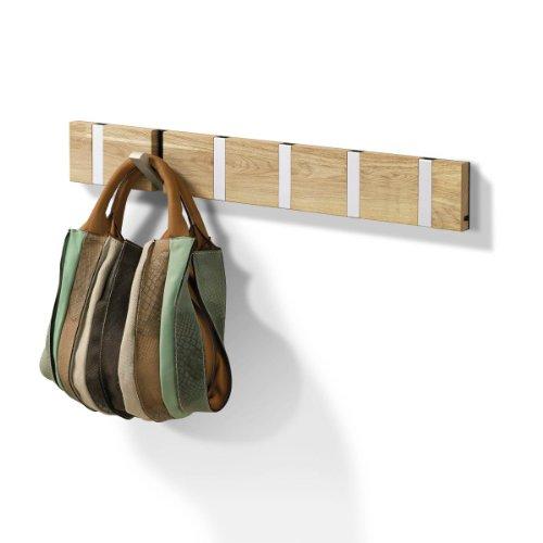 Knax porte-manteau bois chêne huilé 6-portemanteau