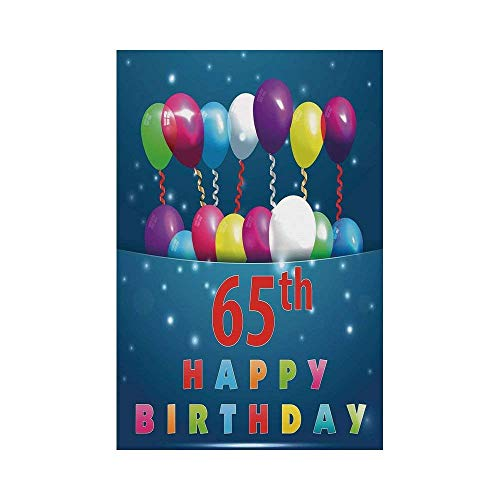 Gthytjhv 65th Birthday Decorations Special Day For Sixty Five Years Old Surprise Balloons Colorful House Garden