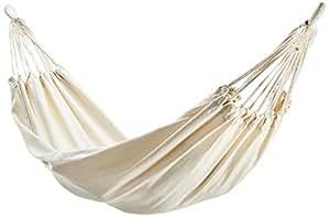 10T Relax Double Hamac coton pour 2 personnes Beige 180 x 145 cm