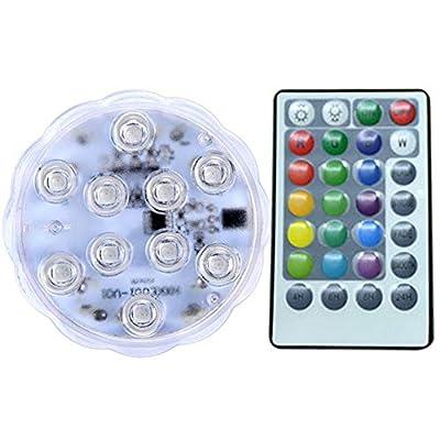 Corail de la lumière d'aquarium 10pc LED élèvent la lumière haute puissance lampe de réservoir de poissons ampoules LED RGB contrôle à distance mené lumières d'aquarium 4W lampes de réservoir de poiss
