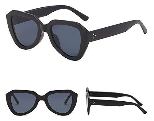 WSKPE Sonnenbrille Cat Eye Sonnenbrille Gradient Gläser Kunststoff Sechskant Sonnenbrille Uv 400 Schwarz Gestell Schwarz Objektiv