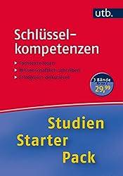 Studien-Starter-Pack Schlüsselkompetenzen: Dreibändige Handbibliothek für die erste Phase des Studiums (UTB-Studien-Starter-Packs, Band 4280)