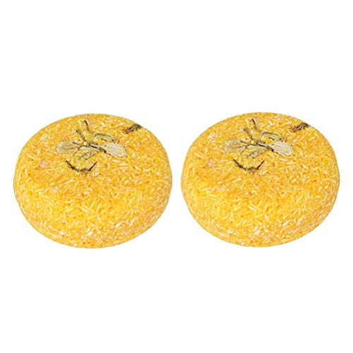 PanDaDa 2PCS Jasmin Conditioning Shampoo Bar, Shampooing Solide Sec Bio Savon Cheveux Hydratants 100% Naturel Fait à la Main