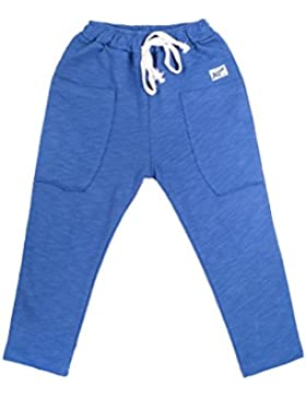 Oceankids Pantaloni Sportivi in Cotone da Bambino con Cintura Elastica Jogger di Tuta Comodi, da Jogging per Ragazzi