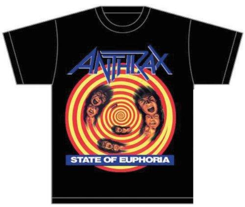 Collectors Mine Herren T-Shirt Anthrax-State Of Euphoria Schwarz (Black)