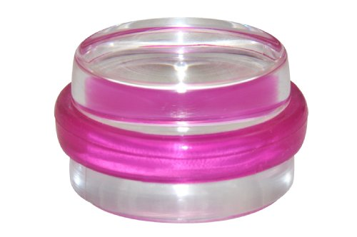 WAGNER Bodentürstopper 'CLEAR' - Kunststoff, transparent/pink, Durchmesser 38 x 22 mm, selbstklebend, rückstandslos entfernbar - 15501711