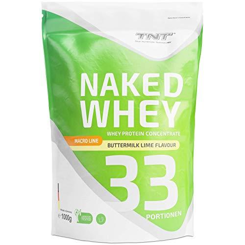 Whey Protein Pulver – Eiweißpulver aus Molke – Proteinpulver mit Laktase – Eiweiß-Shake / 1kg BUTTERMILK-LIME