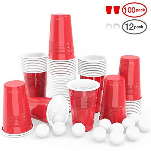 Ohuhu Vasos plástico Desechables Fiestas 100pcs
