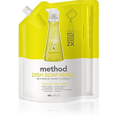 Method Lemon Mint Washing-Up Liquid Refill, 1064 ml