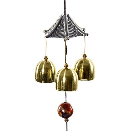 HCFKJ Großer Klang Bronze Farbe Glocken Windspiele
