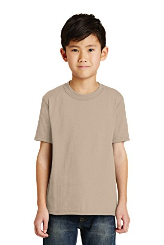 Port & Company® - Youth Core Blend Tee. PC55Y Desert Sand M - Pc55y Port